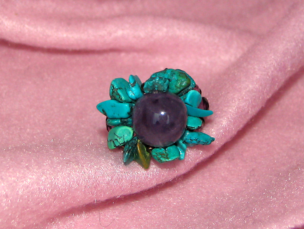 Améthyste & turquoise